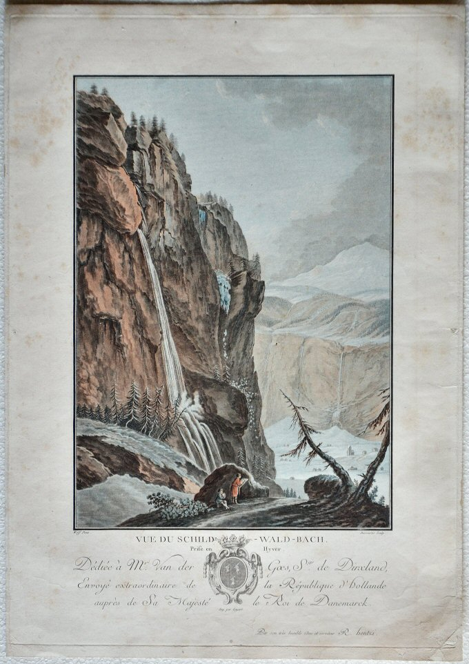 Vue du Schild-Wald-Bach prise en Hiver
