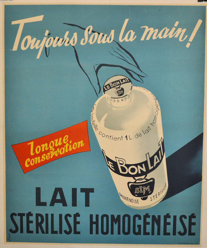 Lait pur sterilisé homogeneisé