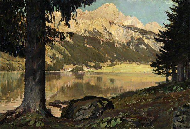 (scorcio di lago in Alta Baviera)