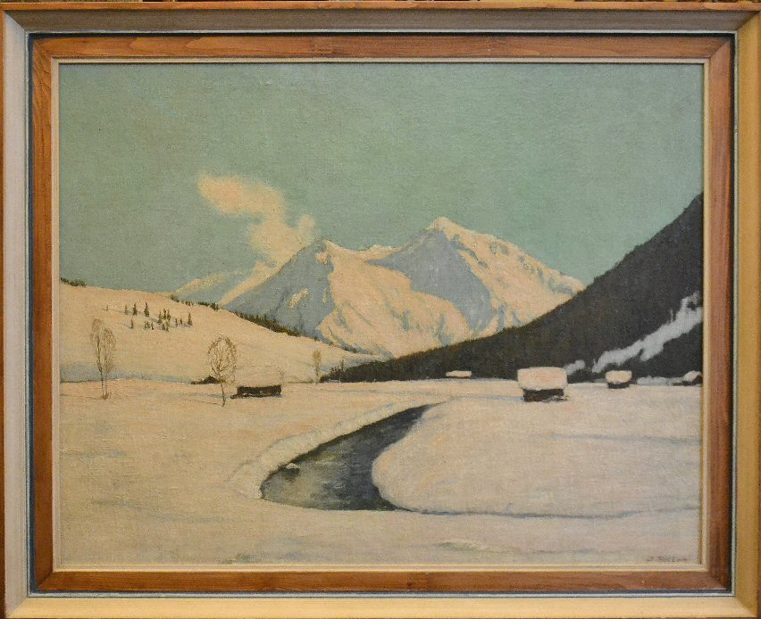 (Veduta invernale di località alpina non identificata, prob. Baviera)