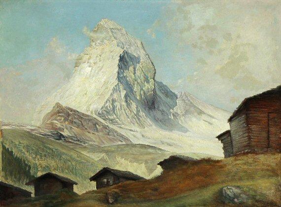 (baite a Findeln sopra Zermatt, sullo sfondo il Matterhorn)