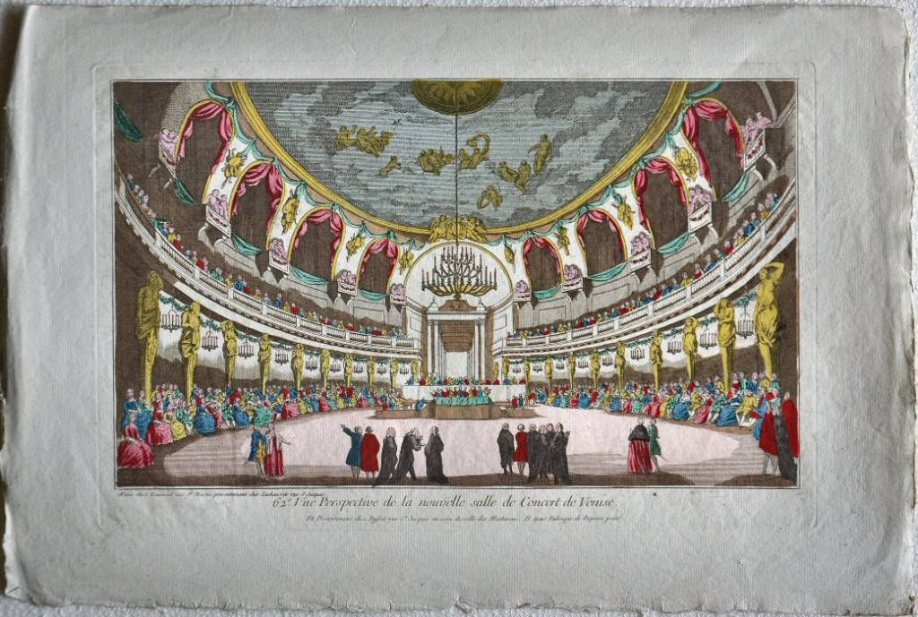 62.e Vue Perspective de la nouvelle salle de Concert de Venise