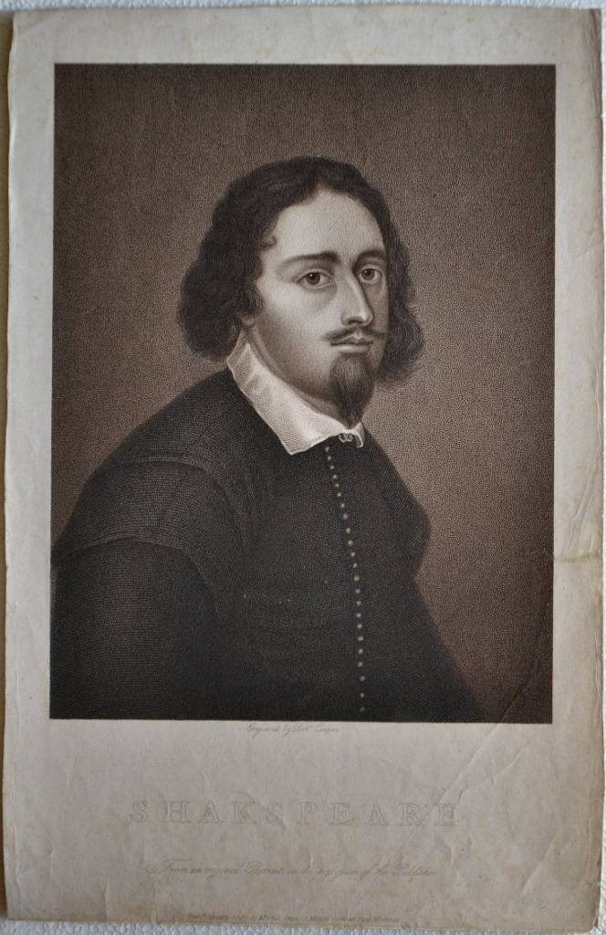 Shakespeare. From an original portrait in the possession of the publisher