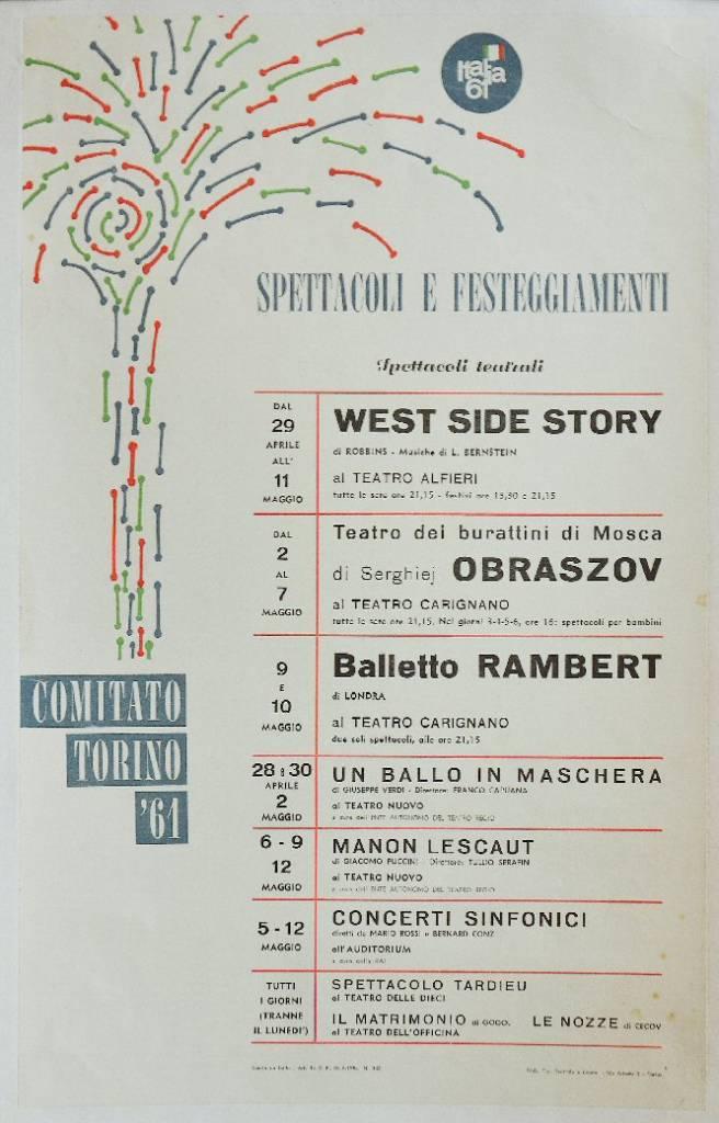 Comitato Italia '61. Spettacoli e festeggiamenti