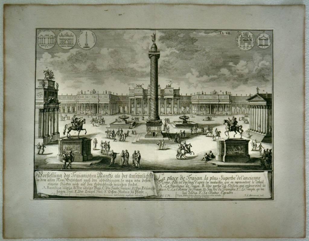 Vorstellung des Traianischen Marchts… / La place de Traian, la plus superbe de l'ancienne Ro