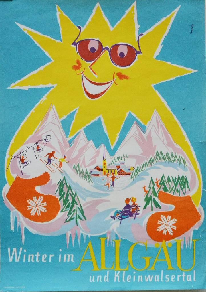 Winter im Allgau und klein walsertal