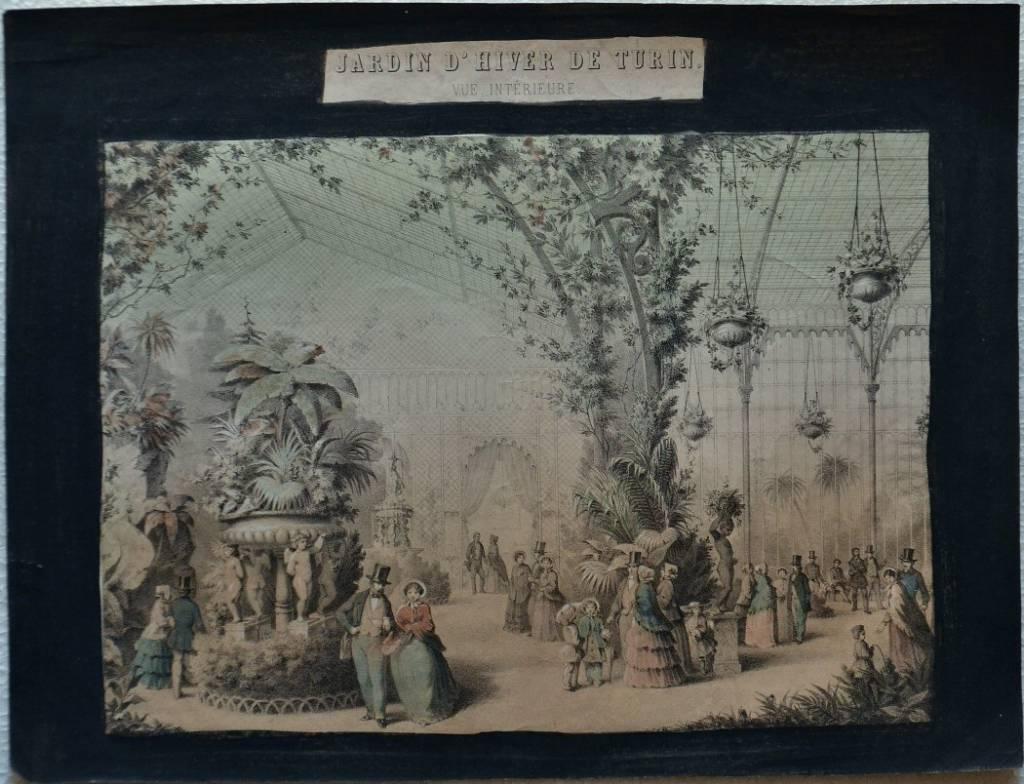 Jardin d'hiver à Turin. Vue interieure