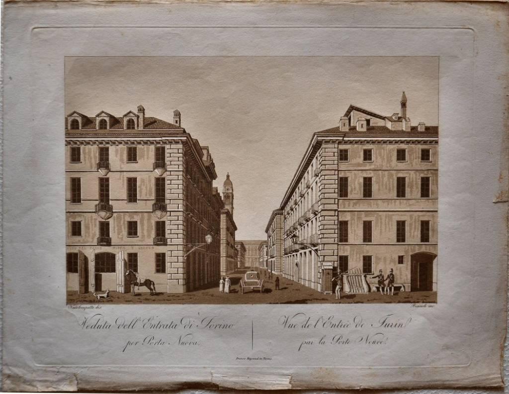 Veduta dell'Entrata di Torino per Porta Nuova / Vue de l'entrée de Turin par la Porte N